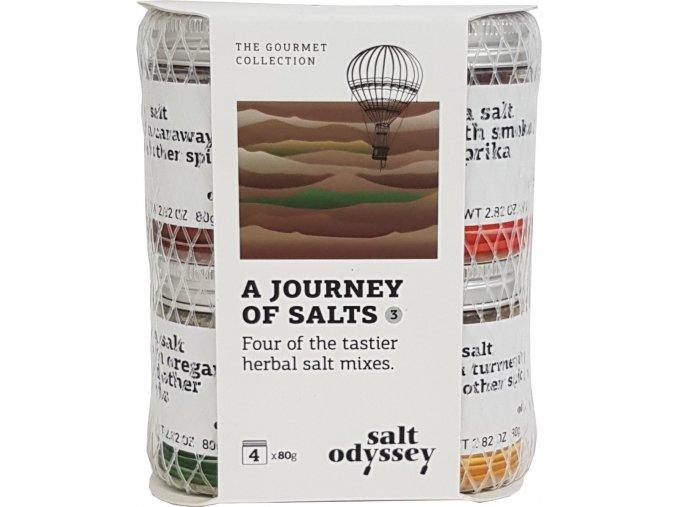 Mix 4 druhů solí Salts herbs 4x80 g balíček