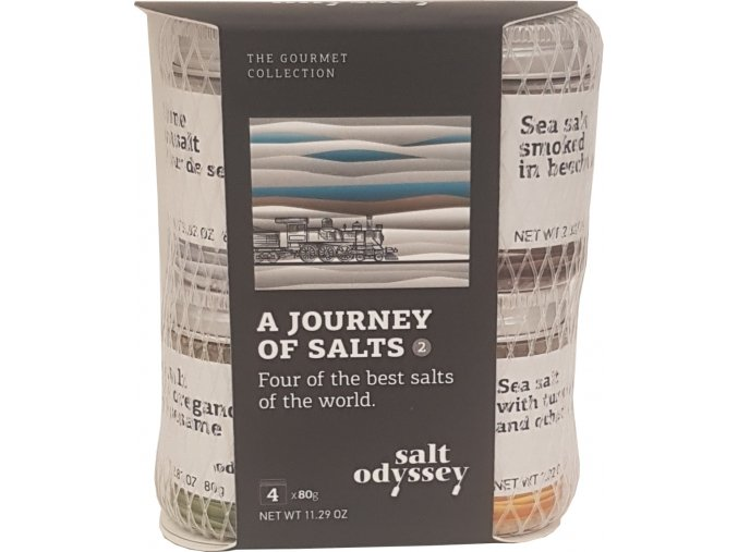 Mix 4 druhů solí Salts world 4x80 g balíček