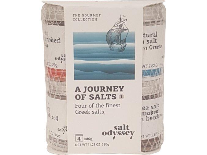 Mix 4 druhů solí Greek salts 4x80 g balíček