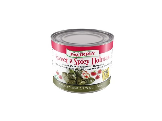 Vinné listy plněné rýží SWEET AND SPICY 2,1 kg