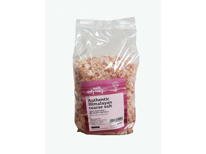 Himalájská růžová hrubá sůl 1 kg SALT ODYSSEY