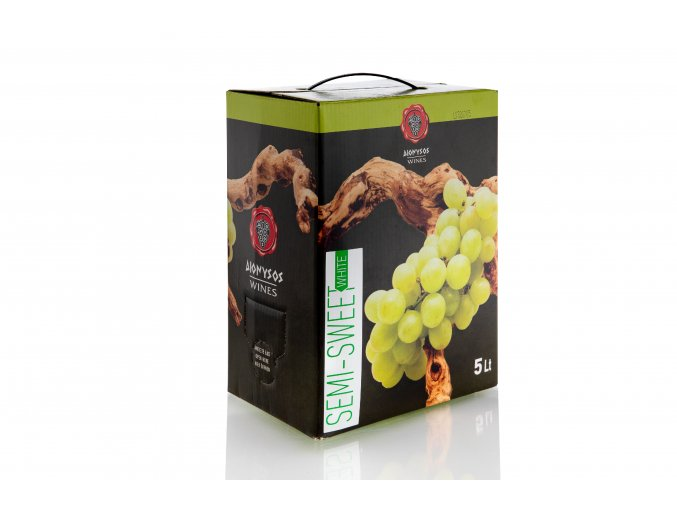 Imiglykos bílé polosladké víno box s ventilkem 5 l