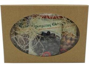 Mix marinovaných řeckých oliv s peckou Kalamata, Blonde a Thassos
