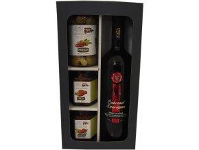 Párování Cabernetu Sauvignon se sušenými rajčaty, v dárkové kazetě