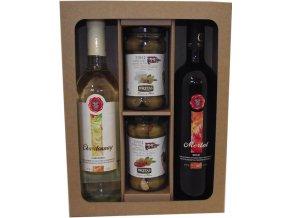 Párování vína s olivami dárková kazeta