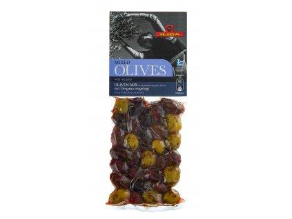 22 10 04 Zelené a černé olivy s oregánem, s peckou 150 g