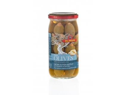 22 06 02 Olivy zelené plněné mandlí 370 g