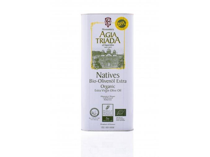 BIO extra panenský olivový olej Agia Triada 5 l