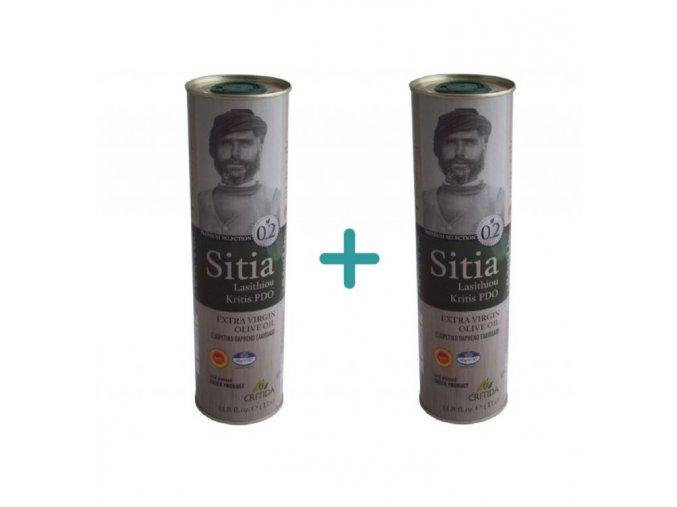 1+1 Extra pan. olivový olej SITIA PDO 0,2 1 l plech