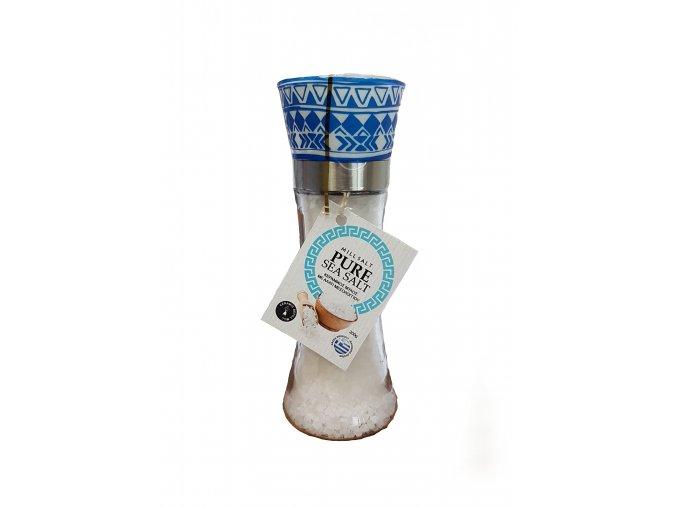 Výběrová řecká mořská hrubá sůl 200 g mlýnek