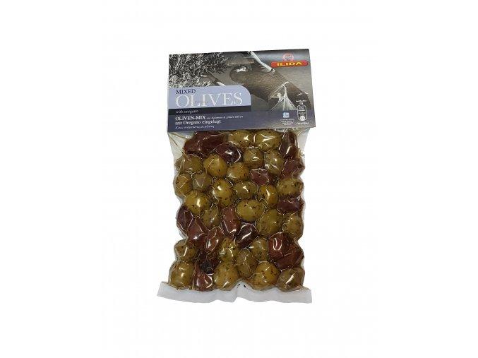Mix zelených a černých oliv ILIDA oregánem, s peckou 250 g LIMITOVANÁ EDICE