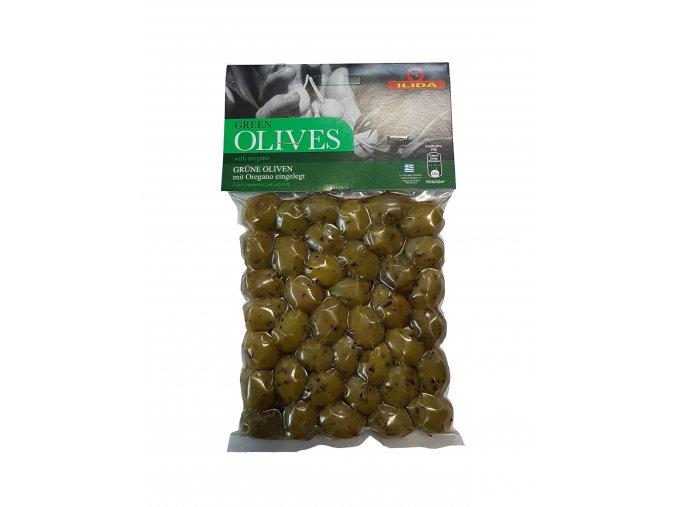 Olivy zelené ILIDA s oregánem, s peckou 250 g LIMITOVANÁ EDICE