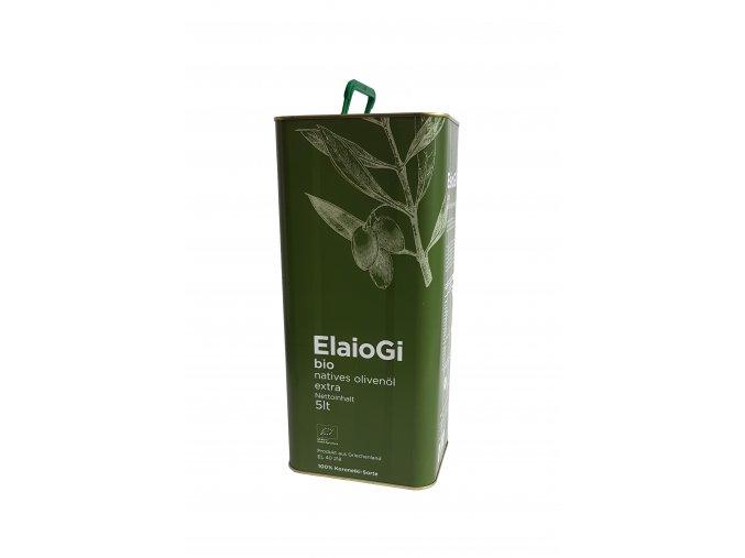 BIO extra panenský olivový olej ELAIOGI 5 l plech CZ BIO 003