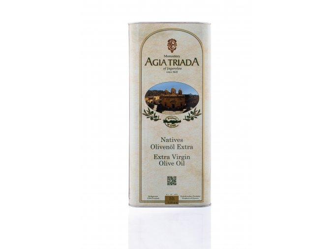 Extra panenský olivový olej 5 litrů Agia Triada PLECH