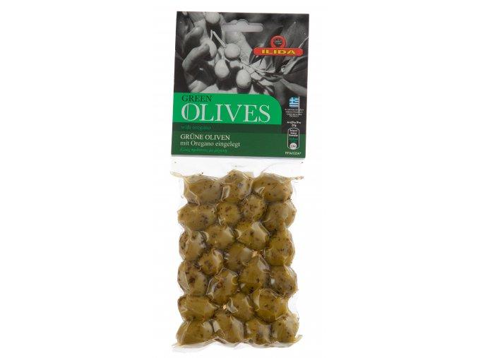 22 10 01 Olivy zelené s oregánem, s peckou 150 g