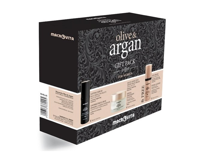 eng pl MACROVITA OLIVE ARGAN GIFT SET Night Cream all skin types 50ml Lifting Serum for face neck and decollete 30ml FREE Eye Cream 30ml 17777 3