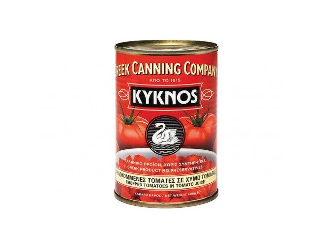 14 04 02 Krájená rajčata v rajčatové šťávě 400 g plech