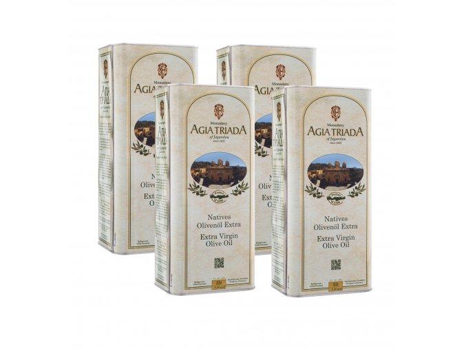 Extra panenský olivový olej AGIA TRIADA 4x5 l plech karton