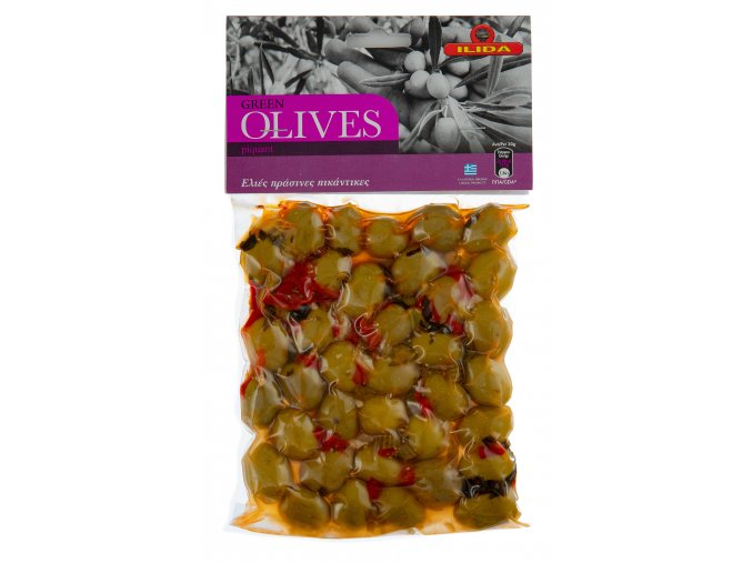 22 05 03 Olivy zelené pikantní s peckou 250 g