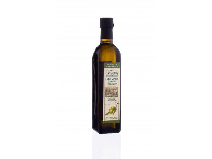 Extra panenský olivový olej FOUFAS - 500 ml hranatá láhev