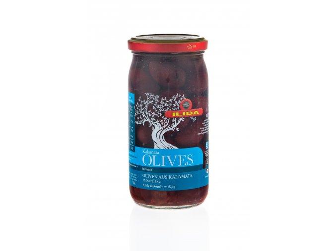 22 01 02 Olivy černé KALAMATA s peckou 370 g