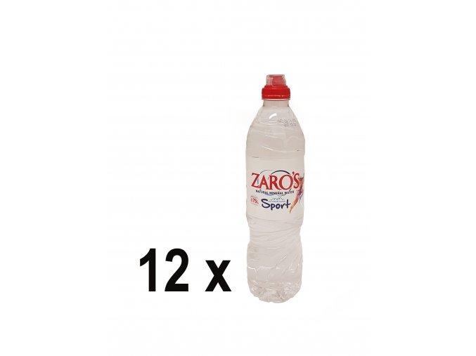 Minerální voda ZARO'S neperlivá 0,75 l PET SPORT (12 x 0,75 l - karton)