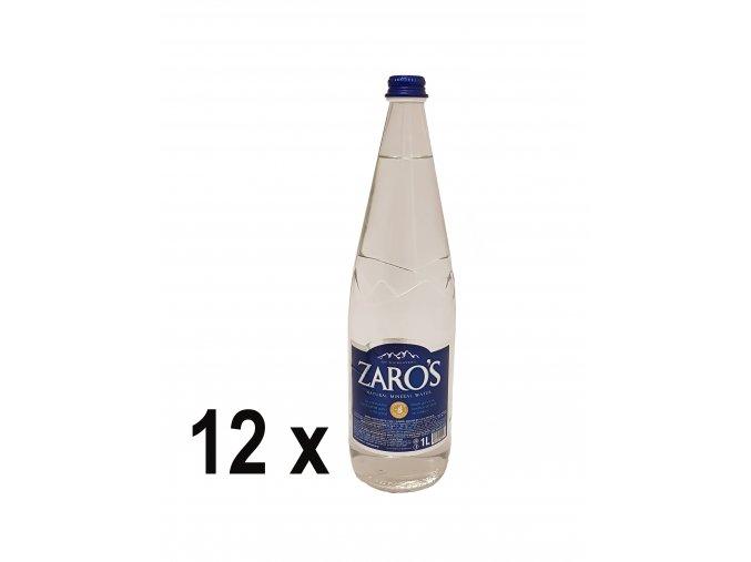 Minerální voda ZARO'S neperlivá 1 l SKLO (12 x 1 l - karton)