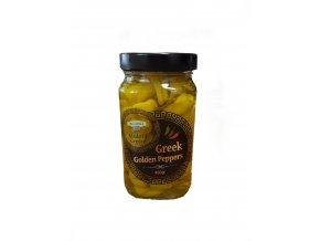 Řecké zelené papriky Golden 460 g sklo KORVEL
