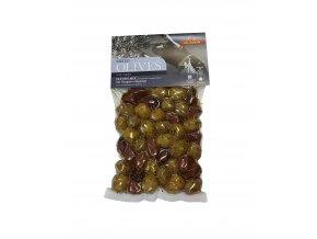 Mix zelených a černých oliv ILIDA oregánem, s peckou 250 g