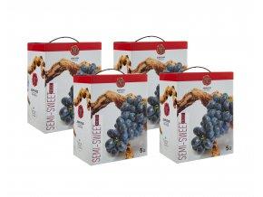 Imiglykos červené polosladké víno box 4x5l KARTON