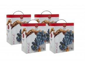 RŮŽOVÉ suché víno DIONYSOS box s ventilkem 4x5l