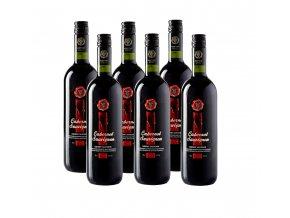 Červené suché víno Cabernet Sauvignon 6x750ml KT