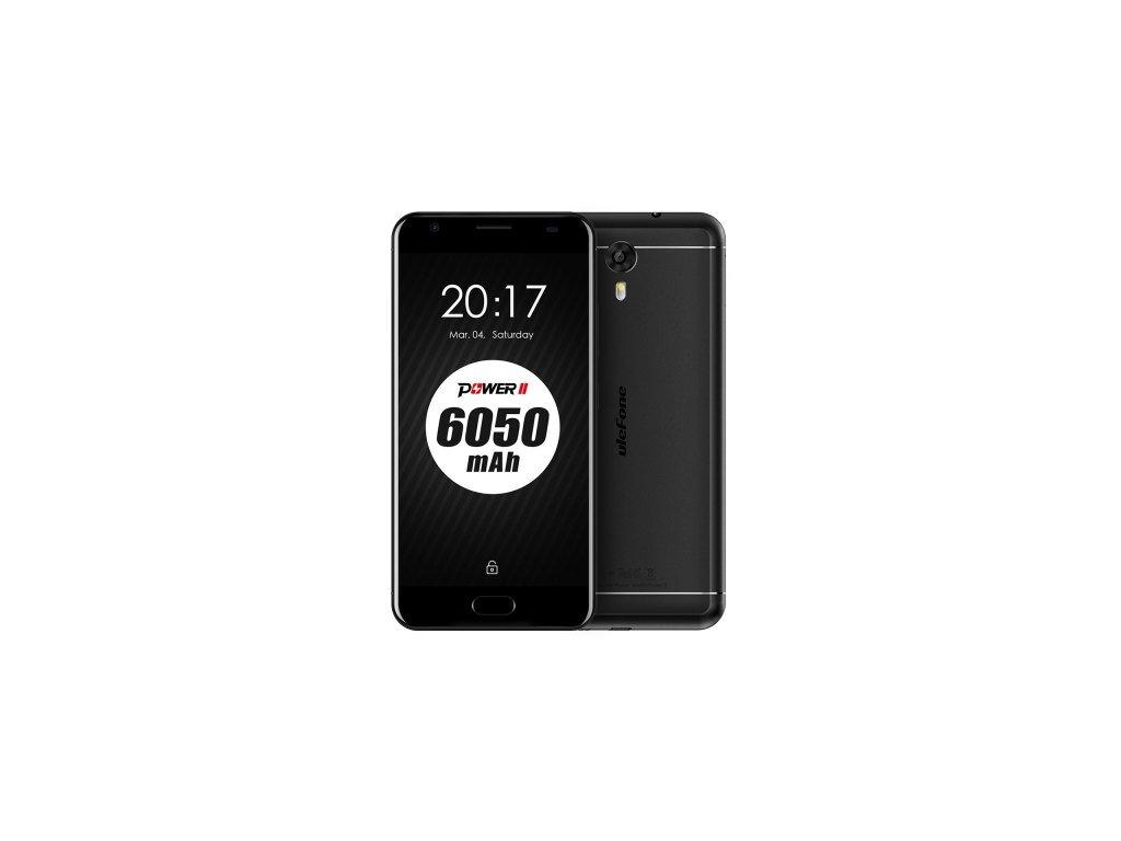 Ulefone Power 2  4GB RAM, LTE, 16MPx, 6050mAh + AKCE: záruka 30 měsíců, plastový kryt, tvrzené sklo a stojánek na telefon