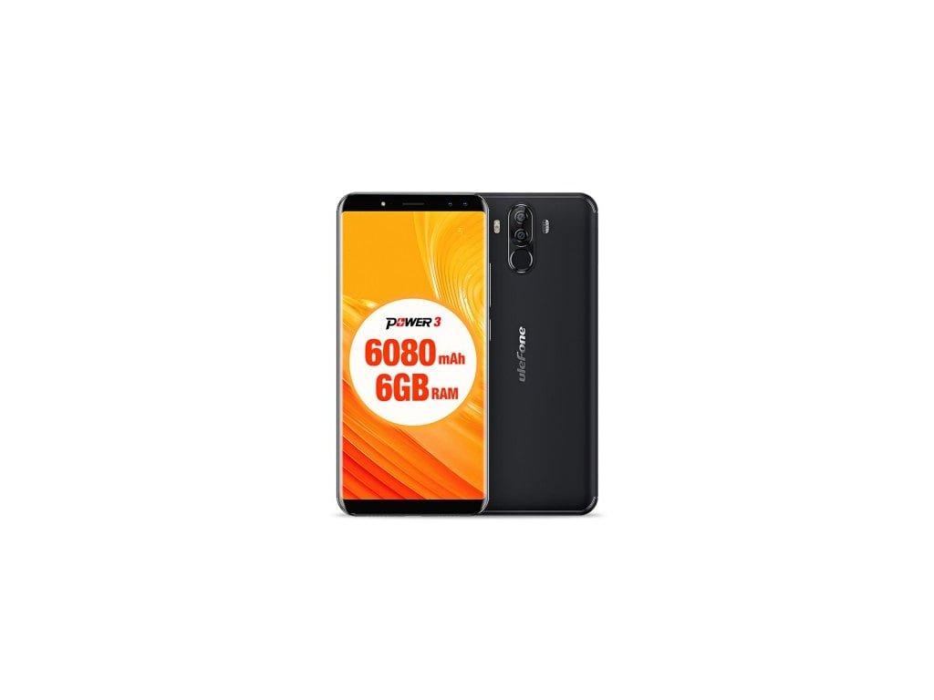 Ulefone Power 3  8-jádro, 6GB RAM, FHD+, Gorilla Glass 4, LTE, 21MPx + prodloužená záruka, gelové pouzdro, folie, OTG kabel a redukce