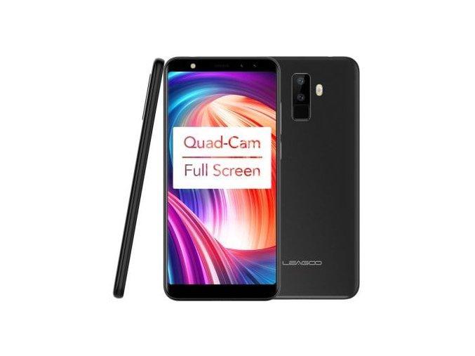"""Leagoo M9  5,5"""", 2GB RAM, 18:9 Gorilla Glass 3, Quad kamera + gelové pouzdro a folie zdarma"""