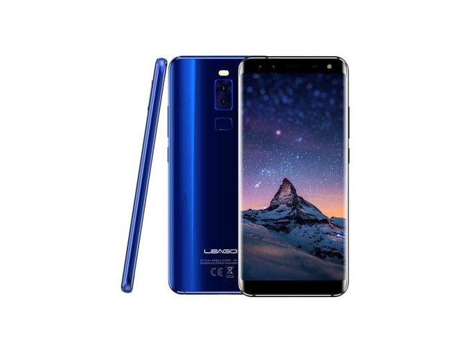 """Leagoo S8  5,7"""" Sharp, 18:9, 8-jádro, 3GB RAM, LTE, Quad kamera, rozbaleno + prodloužená záruka, sluchátka a gelové pouzdro"""