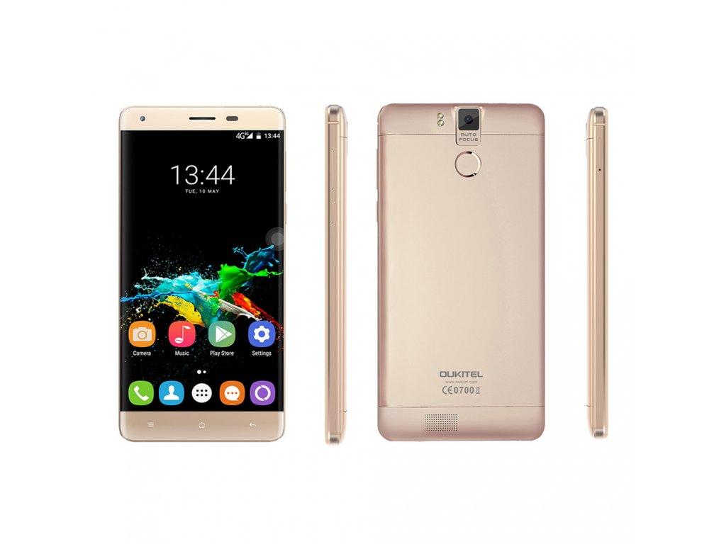 Oukitel K6000 Pro Barva: zlatá dual SIM, 32GB, LTE, 13MPx, 6000mAh