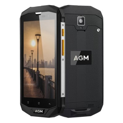 "AGM A8 64GB 5"", 4GB RAM, HD, IP68, NFC, LTE, Android 7"