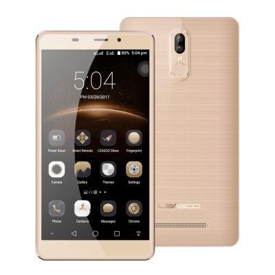 """Leagoo M8 Pro 5,7"""", 2GB RAM, Dual kamera, Gorilla Glass 4, 3500mAh, LTE + sluchtáka a folie zdarma zlatá"""