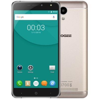 """Doogee X7 Pro 2GB RAM, LTE, 6"""" LCD + náhradní kryt, folie a gelové pouzdro! zlatá"""