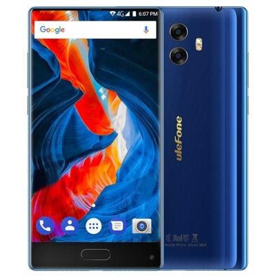 Ulefone Mix 4GB RAM, LTE, dual kamera 13MPx + gelové pouzdro a folie zdarma modrá