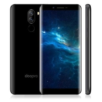 Doopro P5 Pro Doogee, 2GB RAM, LTE, dual kamera, 18:9 HD, čtečka otisků, Android 7 + folie ZDARMA! černá