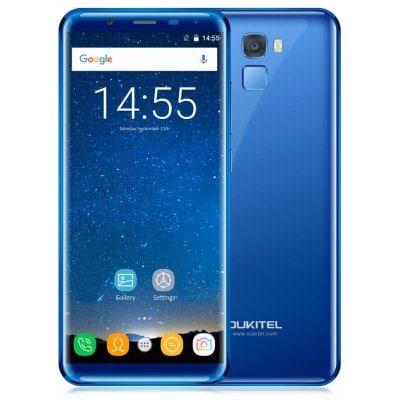 Oukitel K5000 4GB RAM, 18:9 HD+, LTE, čtečka otisků, Android 7 + gelové pouzdro, folie a redukce USB-C modrá