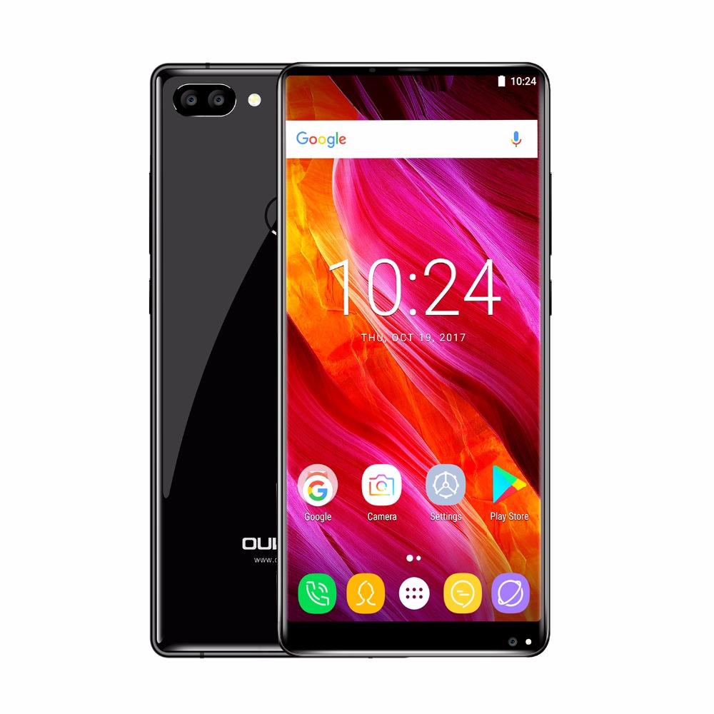 Oukitel Mix 2 6GB RAM, FHD+, LTE, Dual kamera, Android 7 + AKCE: záruka 30 měsíců, gelové pouzdro, folie černá