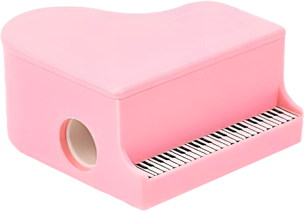 Ořezávátko na tužky - Klavír - Světle růžový