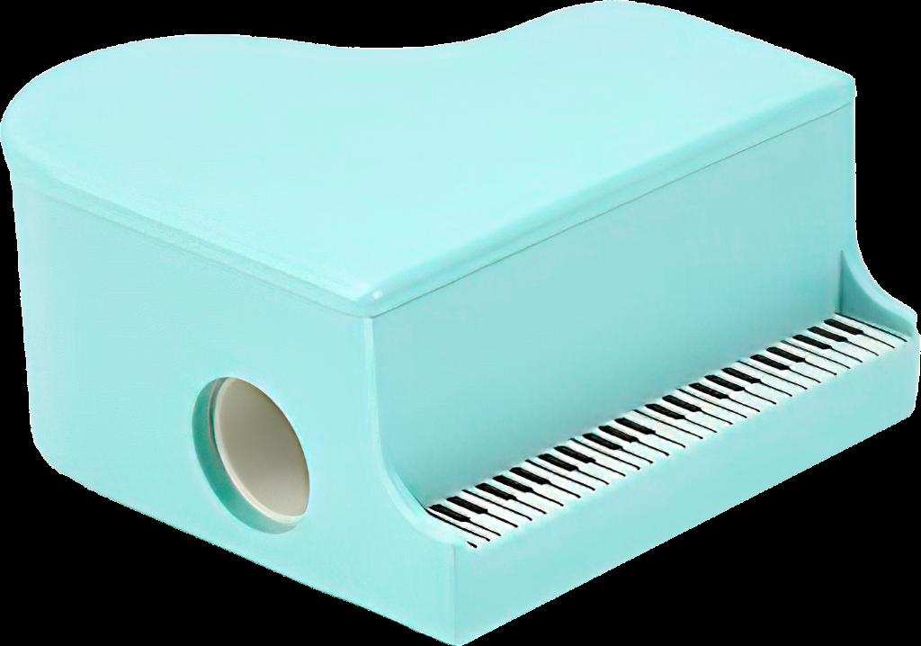Ořezávátko na tužky - Klavír - Světle modrý