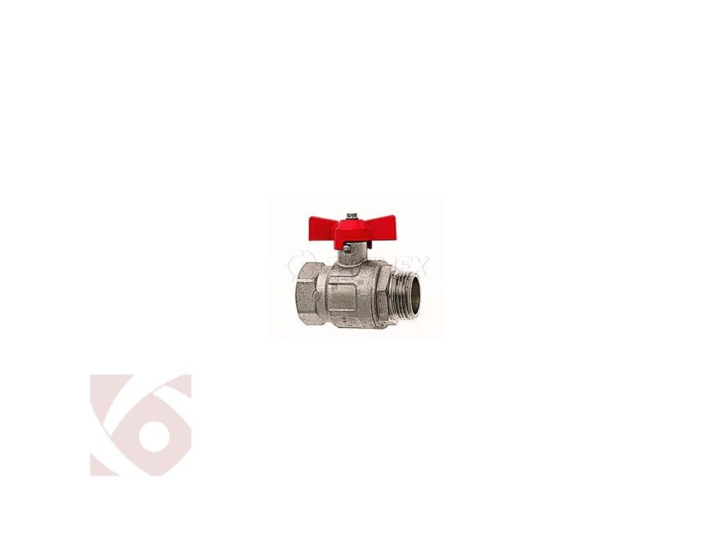 Kulový ventil s vnitřním a vnějším závitem motýl