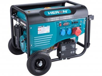 Benzínová elektrocentrála HERON 15HP/6,8kW (400V), 5,5kW (230V), elektrický start (8896420)