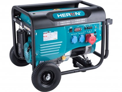 Benzínová elektrocentrála HERON 15HP/6,8kW (400V), 5,5kW (230V) (8896418)