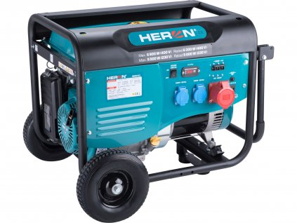 Benzínová elektrocentrála HERON 13HP/5,5kW (400V), 2x2,2kW (230V) (8896412)